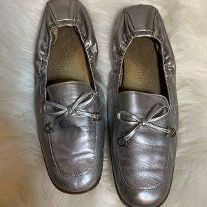 Salvatore Ferragamo silver leather loafers, 7